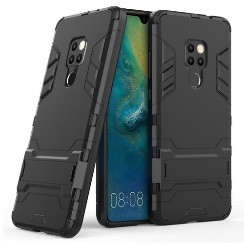 Slim Armour Tough Shockproof Case & Stand for Huawei Mate 20 - Black